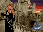Lotze Posters - Sunset Castle with Moat  Poster by ChelsyLotze International Studio