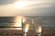 Cheers Prints - Sunset Celebration Eastham Print by John Turek