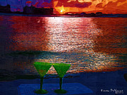 Beach Sunsets Originals - Sunset Celebration by Karen Devonne Douglas