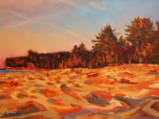 Pictured Paintings - Sunset Chapel Rock Beach by Kurt Anderson