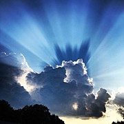 Light Art - #sunset #clouds #weather #rays #light by Amber Flowers