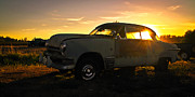 1949 Plymouth Framed Prints - Sunset Coupe Framed Print by Steve McKinzie