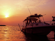 Sun Shades Prints - Sunset Cruise Print by Graham Taylor