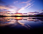 Reflections Of Sun In Water Metal Prints - Sunset, Dinish Island Kenmare Bay Metal Print by The Irish Image Collection