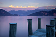 Lucerne Photo Posters - Sunset Dock Poster by Brian Jannsen