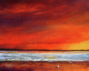 Oranage Prints - Sunset Dreamin Print by Toni Grote