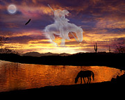 Stampede Digital Art - Sunset Dreams by Nadene Merkitch