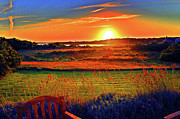 Duncan Pearson Acrylic Prints - Sunset Eat Fire Spring Rd Nantucket MA 02554 Large Format Artwork Acrylic Print by Duncan Pearson