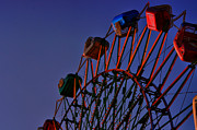 Ferris Wheels Prints - Sunset Ferris Print by Emily Stauring
