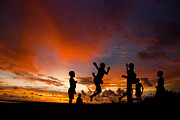Thomas Suryono Art - Sunset for Komoro children by Thomas Suryono