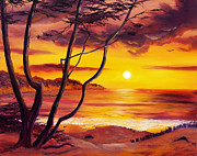 Laura Iverson - Sunset from a Carmel Cypress Tree