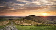 Castleton Prints - Sunset From Mam Tor, Peak District Print by Verity E. Milligan
