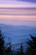 Blue Ridge Mountains Posters - Sunset from the Top Poster by Andrew Soundarajan