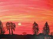 Jordan Art Paintings - Sunset Glow by Jeannie Atwater Jordan Allen