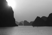 Ha Long Posters - Sunset Ha Long Bay Poster by Chuck Kuhn