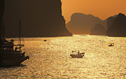 Ha Long Posters - Sunset Ha Long Bay III Poster by Chuck Kuhn