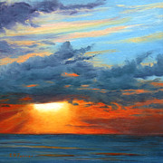 Barrette Painting Originals - Sunset I by Elaine Farmer