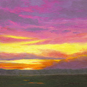 Barrette Painting Originals - Sunset III by Elaine Farmer