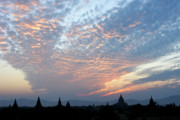 Bagan Photos - Sunset in Bagan by Michele Burgess