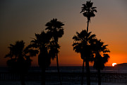 San Clemente Pier Prints - sunset in Califiornia Print by Ralf Kaiser