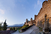 Sunset In Carcassonne Print by Robert Lacy