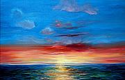 Key West Paintings - Sunset in Florida Key West. by Jeannette Ulrich