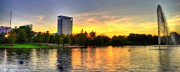 Hermann Photos - Sunset in Hermann Park by David Morefield