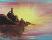 Suzanne  Marie Leclair - Sunset in Rocks