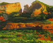 Sedona Drawings Prints - Sunset In Sedona Print by Jason Leisering