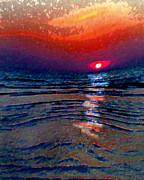 Sarasota Digital Art Posters - Sunset in Siesta Key Florida Poster by Dyana  Jean