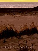 Dunes Digital Art Prints - Sunset in the Dunes Print by Michelle Calkins