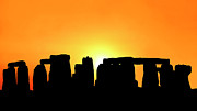 Inspire Metal Prints - Sunset in the Stonehenge Metal Print by Giancarlo Liguori
