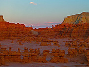 Goblin Digital Art - Sunset in Valley of the Goblins in Goblin Valley SP by Ruth Hager