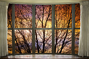 Window Art Framed Prints - Sunset Into the Night Bay Window View Framed Print by James Bo Insogna