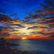 Barrette Painting Originals - Sunset IV by Elaine Farmer