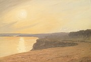 Beach Sunset Paintings - Sunset by James Hallyar