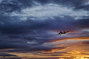 Jet Prints - Sunset Jet Print by John Greim