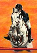 White Horse Pastels Originals - Sunset Jumper by Yvonne Hazelton