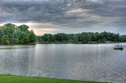 Cloud Formations. Cloud Photography Prints - Sunset Lake Print by Barry Jones