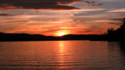 Www Greeting Cards Prints - Sunset-Lake Waukewan 1 Print by Michael Mooney