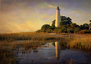 Marty Koch Posters - Sunset Lighthouse 3 Poster by Marty Koch
