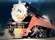 Transportation Framed Prints Prints - Sunset Limited Steam Engine Passenger Train Print by Marsden Burnell