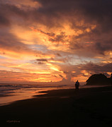 Cloud Reflections Photos - Sunset Lovers Costa Rica by Michelle Wiarda