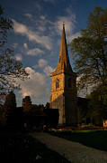 Church Yard Framed Prints - Sunset Lower Slaughter England Church Framed Print by Douglas Barnett