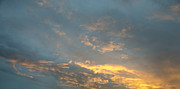 Clouds Photographs Posters - Sunset Poster by Lyubomir Kanelov