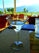 Outdoor Dining Prints - Sunset Martini Print by Randall Weidner