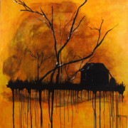 Drips Paintings - Sunset Moments by Nickola McCoy-Snell