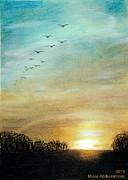 Sunset Print by Muna Abdurrahman