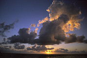 Natural Forces Art - Sunset Near Silk Cay, Belize by Ed George