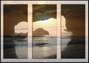 Cave Pyrography Prints - Sunset  Print by Nelly Avraham